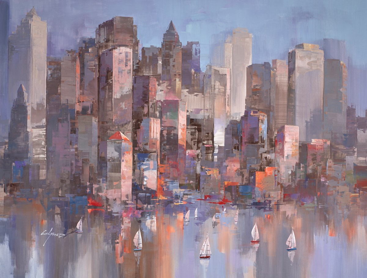Skyscrapers II by wilfred -  sized 45x34 inches. Available from Whitewall Galleries